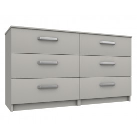 Arden Cashmere Gloss 3 Drawer Double Chest