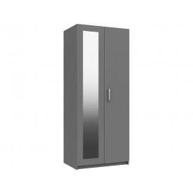 Arden Cashmere Grey Gloss 2 Door Robe With Mirror