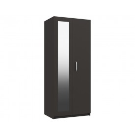 Arden Graphite Grey Gloss 2 Door Robe With Mirror