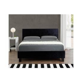 Berlin Parade Black Crushed Velvet Bed Frame