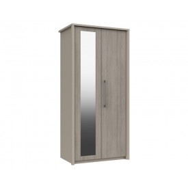 Burton 2 Door Robe Grey Oak With Mirror