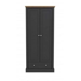 Dawlish Charcoal 2 Door Wardrobe