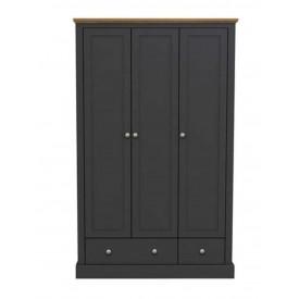 Dawlish Charcoal 3 Door Wardrobe