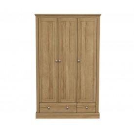 Dawlish Oak 3 Door Wardrobe
