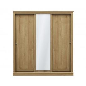 Dawlish Oak 3 Sliding Door Wardrobe