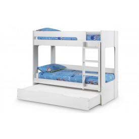 Eclipse White Bunk Bed With Underbed Drawer/Storage