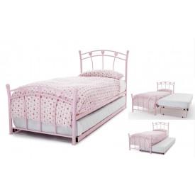 Jemima Pink Guest Bed Frame