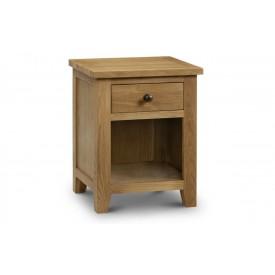 Marlowe Oak 1 Drawer Bedside