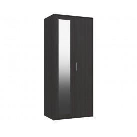 Marston Anthracite Oak 2 Door Wardrobe With Mirror