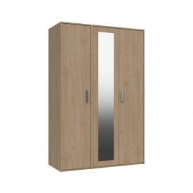 Marston Oak 3 Door Wardrobe With Mirror