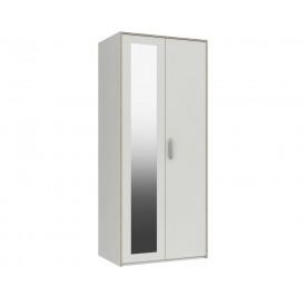Marston White 2 Door Wardrobe With Mirror