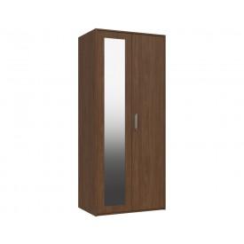 Marston Walnut 2 Door Wardrobe With Mirror