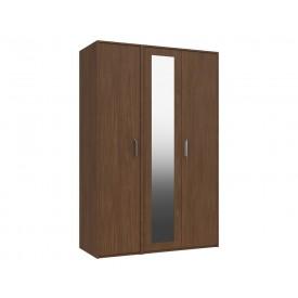 Marston Walnut 3 Door Wardrobe With Mirror