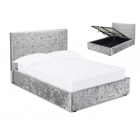 Mint Silver Ottoman Bed Frame