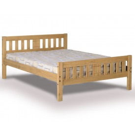 Ria Antique Waxed Pine Double Bed Frame