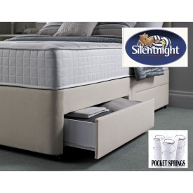 Silentnight Pocket 1000 Single 2 Drawer Divan Bed