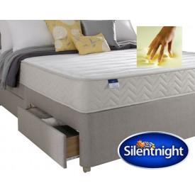 Silentnight Seoul Single 2 Drawer Divan Bed With Memory Foam