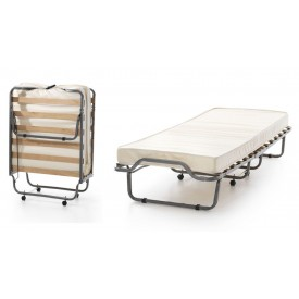 Single Deluxe Folding Guest Bed With Memory Foam Mattress