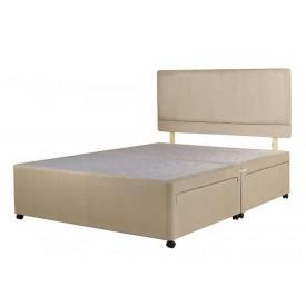 Superior Kingsize Divan Bed Base Stone Fabric