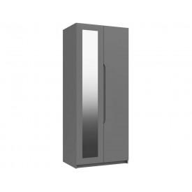 Dust Grey High Gloss 2 Door Mirror Wardrobe