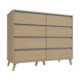 Thames 4 Drawer Double Chest Natural Oak