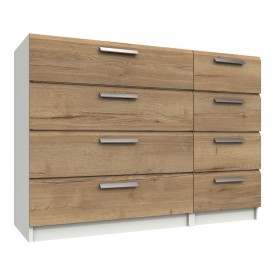 Waterford White And Oak 8 Drawer Chest