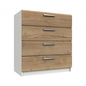 Waterford Oak And White 4 Drawer Chest