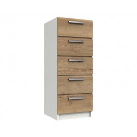 Waterford Oak And White 5 Drawer Tallboy