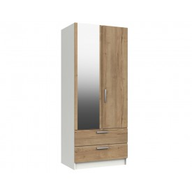 Waterford Oak And White Mirror Combi Robe