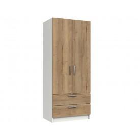 Waterford Oak And White 2 Door 2 Door Wardrobe