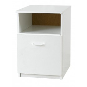 Budget White Bedside Locker