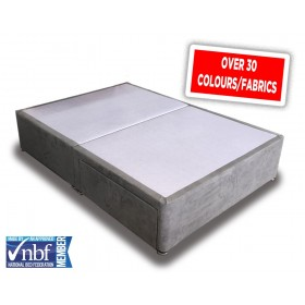Superior King Size Divan Bed Base With Fabric Choice