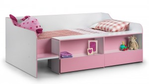 Starburst Pink Cabin Bed Low Sleeper