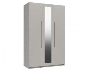 Cashmere Grey High Gloss 3 Door Wardrobe