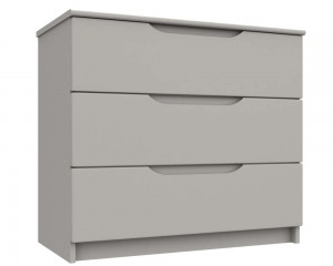 Cashmere Grey High Gloss 3 Drawer Chest