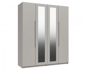 Cashmere Grey High Gloss 4 Door Wardrobe