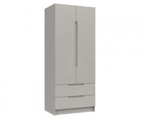 Cashmere Grey High Gloss 2 Door Combi Wardrobe