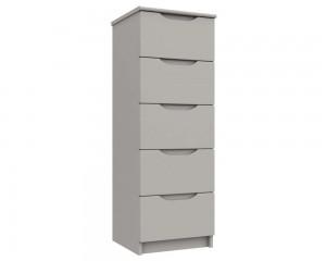 Cashmere Grey High Gloss 5 Drawer Tallboy