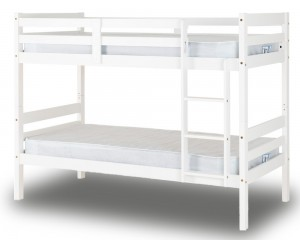 Ranch Style White Bunk Bed